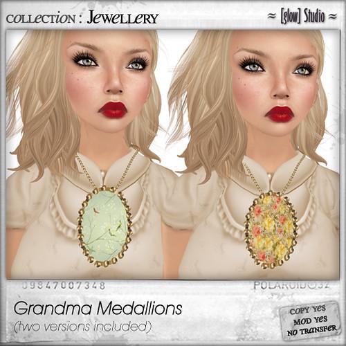 [ glow ] studio - grandma medallions