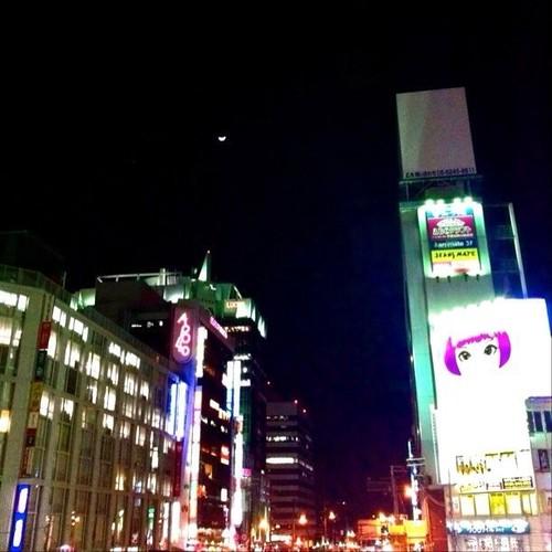 ( ^ω^)おっ、今夜は三日月かな? みんなー、お疲れ様でした。 #Osaka #night