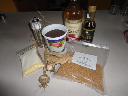 The Ginger Garlic Mustard ingredients