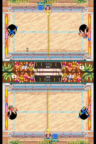 Windjammers - MAME cocktail mode