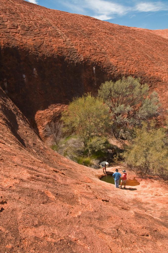 waterhole at the edge of Walga Rock