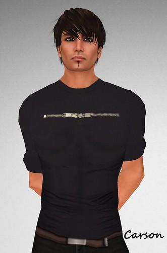KamreK Creations Navy Zipper Shirt