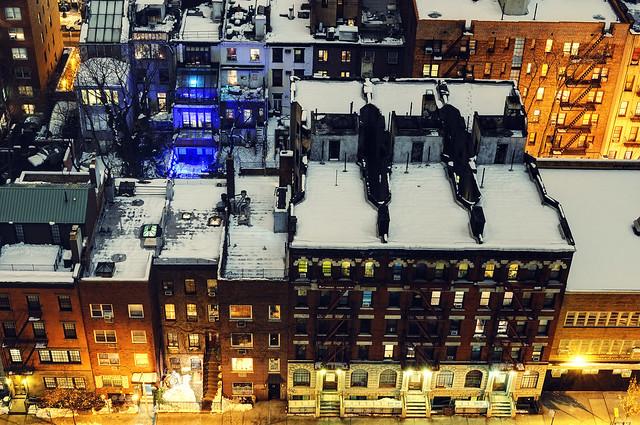 Kips Bay cross streets at night, New York City