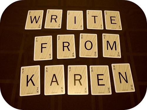 Write From Karen - Scrabble Letters