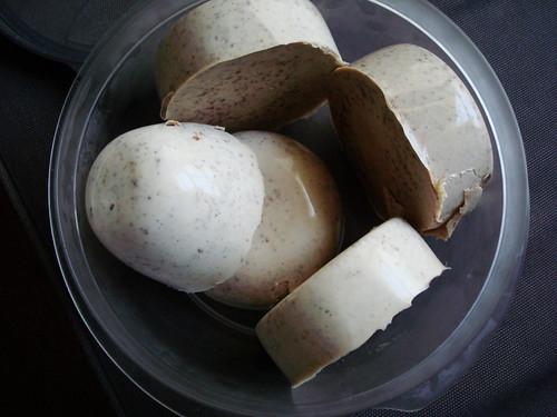 bowl of panna cottas...