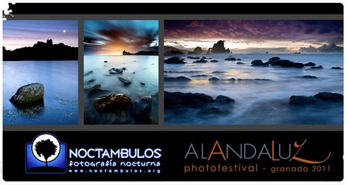 Cartel de la exposicion Noctámbulos en el Alandaluz Photofestival