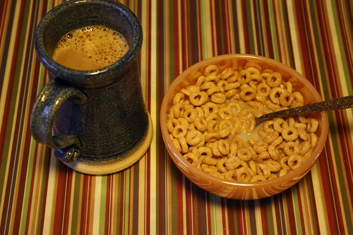 coffee and honey nut cheerios