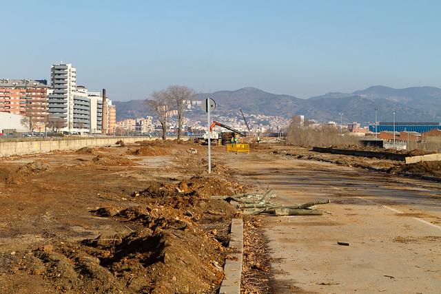 Ronda Sant Martí - Norte desde Pont del Treball - 01-02-11