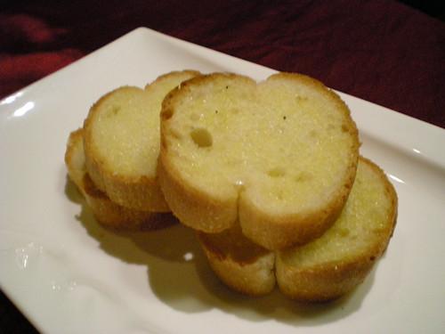 Charcoal Grill - garlic bread