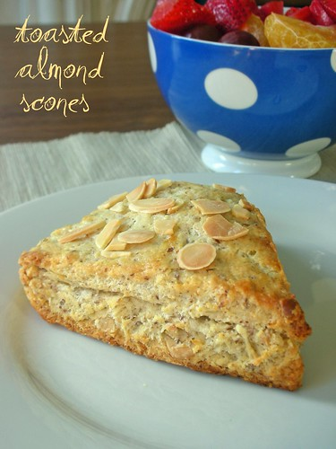 toasted almond scones