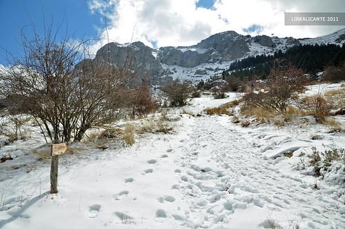 Aitana con nieve