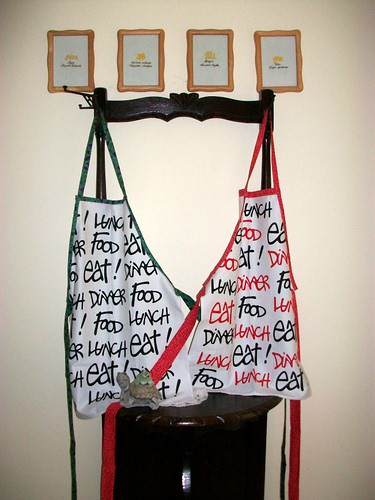 Aprons from Tea Towels