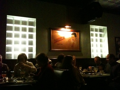 Glass Block Wall and Ortliebs Beer