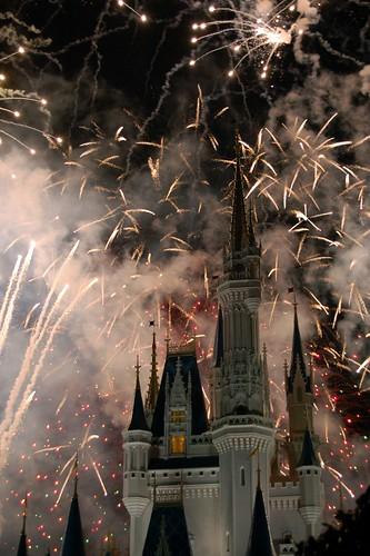 Fireworks over Cinderella's Castle 2