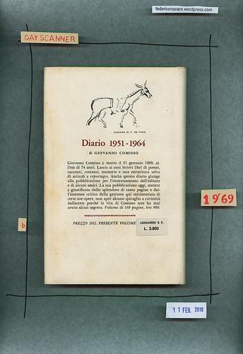 Filippo De Pisis, Il Marchesino Pittore, Longanesi & C. 1969. Quarta di sovracoperta