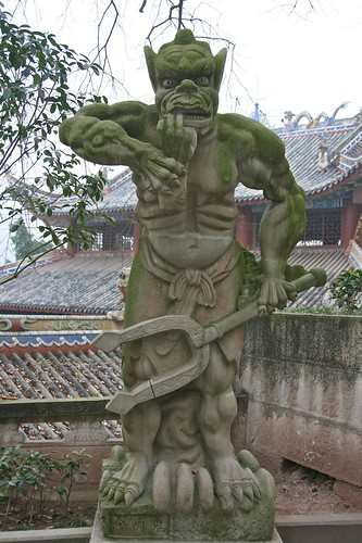 Statue at Fengdu
