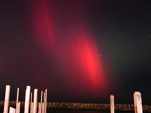 November 2001: Northern Lights over Fishtown