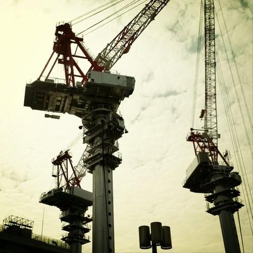 なんとなく、ノスタルジー! 今日も笑顔でがんばろ~!v( ̄Д ̄)v イエイ #prayforjapan #crane