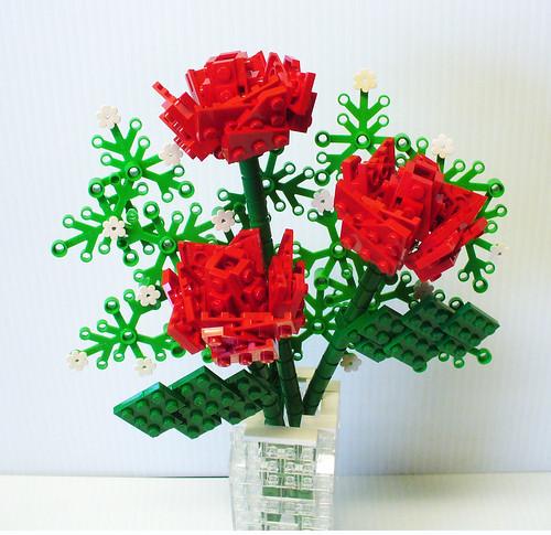Open Rose Bouquet 2