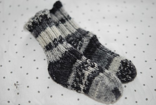Newborn Toe Up Ribbed Socks