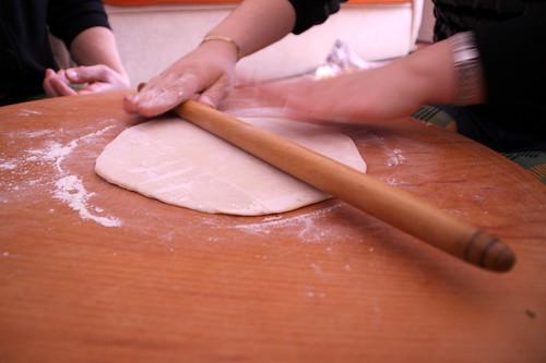 Rolling Manti Dough