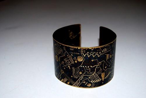 Etsy kalliaxa Bronze Cuff Bracelet $55
