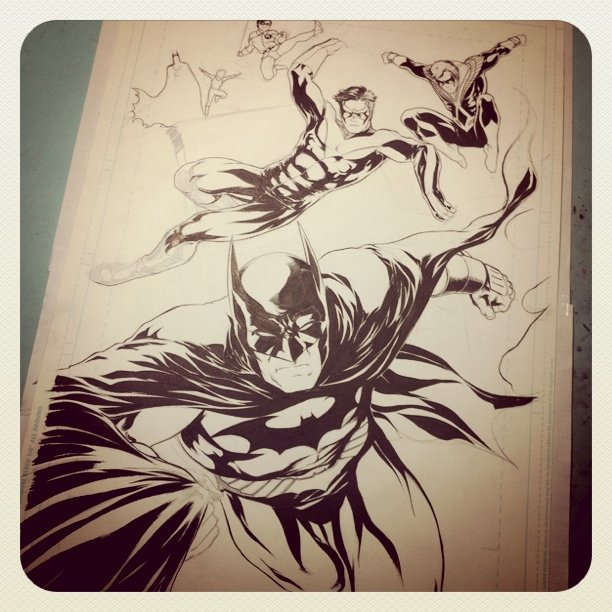 Almost done #comics #Batman #DC #Nightwing #commission