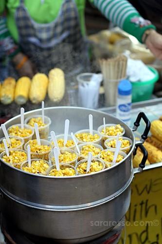 Sweet Corn, Street Food in Thailand