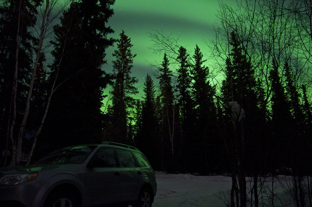 Subaru Under the Aurora
