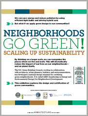 poster for the exhibit (courtesy of USGBC)