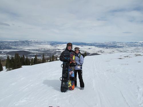 Snowboarding in Utah, March 2011