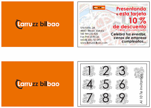 Borrador TARJETAS LARRUZZ, PROMOCIONES by LaVisitaComunicacion