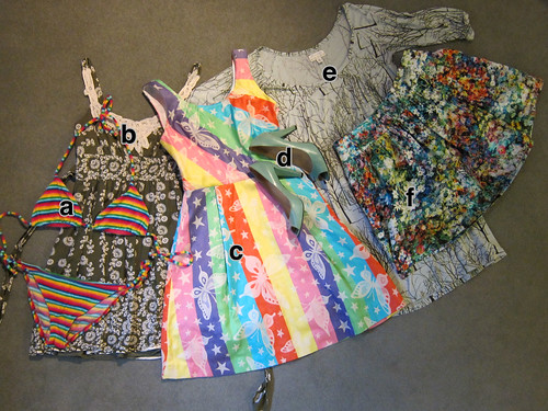 Six Coloured Clothing Items