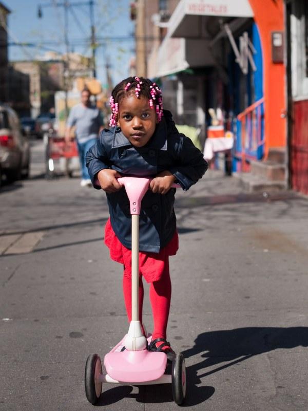 Girl on Scooter: Mott Haven Bronx