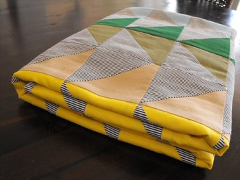 colour geese baby quilt