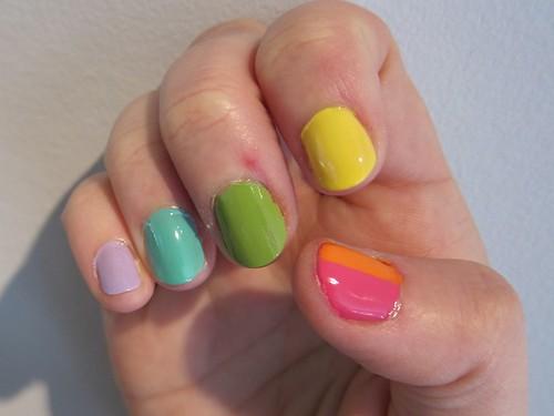 My Rainbow Nails Right Hand