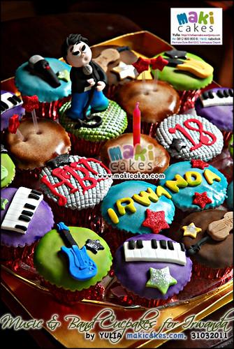 Music & band Cupcakes for Irwanda - Maki Cakes