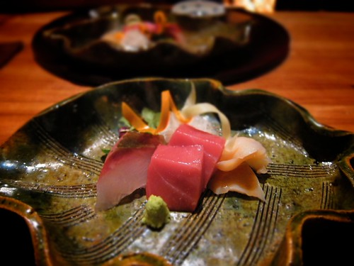 Kampachi, Toro, and Giant Clam by bloompy