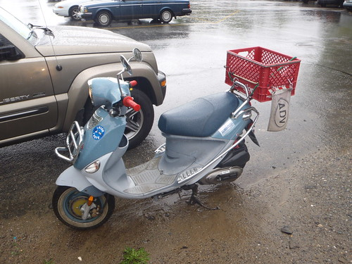 Buddy scooter on campus