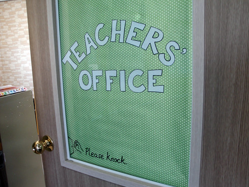 Teachers' Office door decor