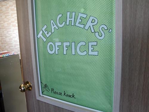 Teachers' Office door decor