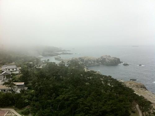 灯台から見下ろした風景