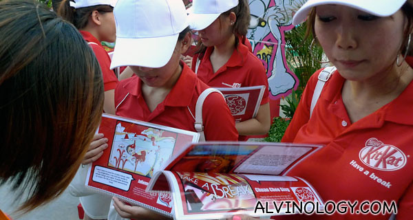 Bubbly Kit Kat girls everywhere to give out Kit Kats