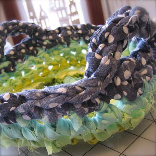 Rag Rug Basket Crochet Pattern Pdf Crochet With Fabric