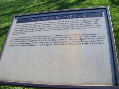 Jordan gravestone information