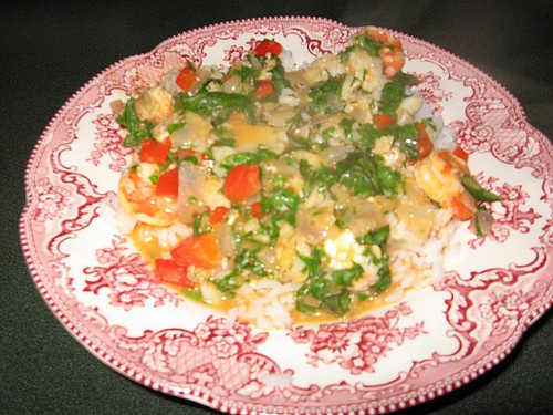shrimp & fish curry