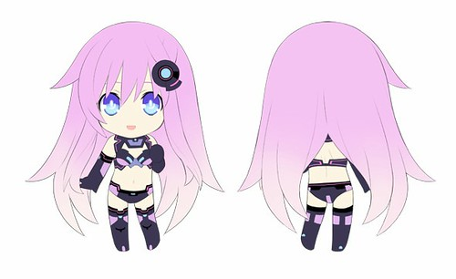 Design of Nendoroid Petit Purple Sister (Nepgear)
