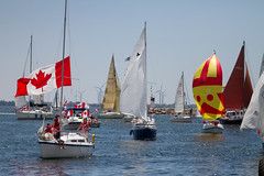 Sailpast on a beautiful sunny Canada Day