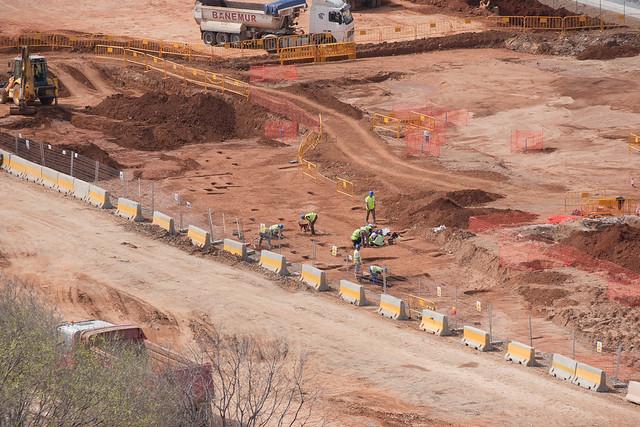 Zona futura estación de La Sagrera - Trabajos arqueológicos - 30-03-11