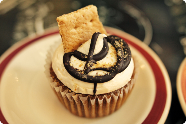 Vegan S'more Cupcake